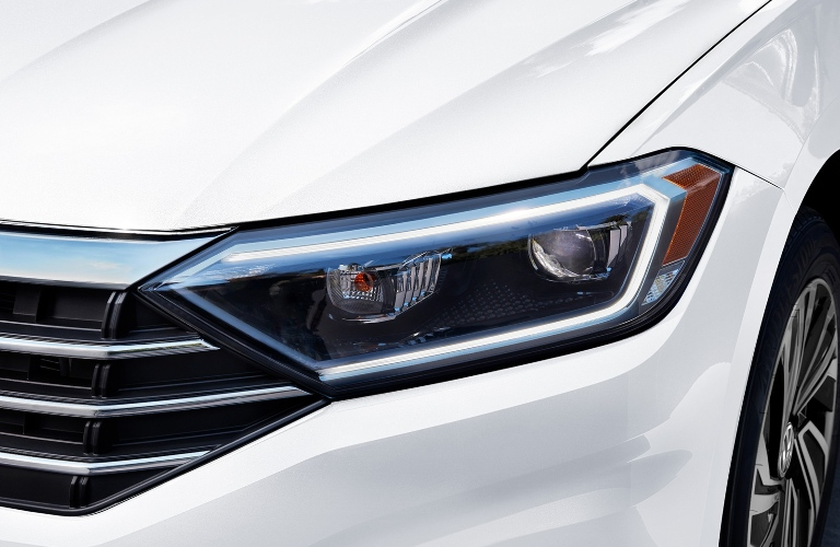 2020 Volkswagen Jetta close up of the headlight