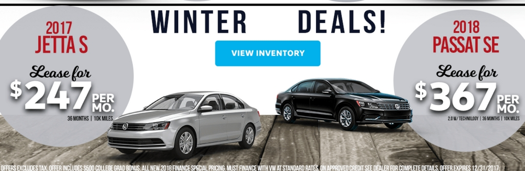 Vw Lease Deals >> Volkswagen Winter Finance And Lease Deals In Folsom Ca