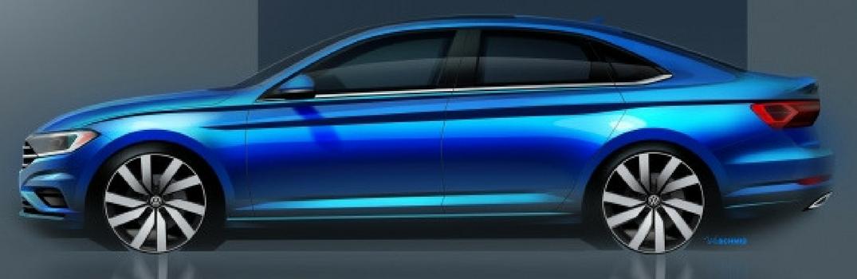 2019 Volkswagen Jetta side profile sketch