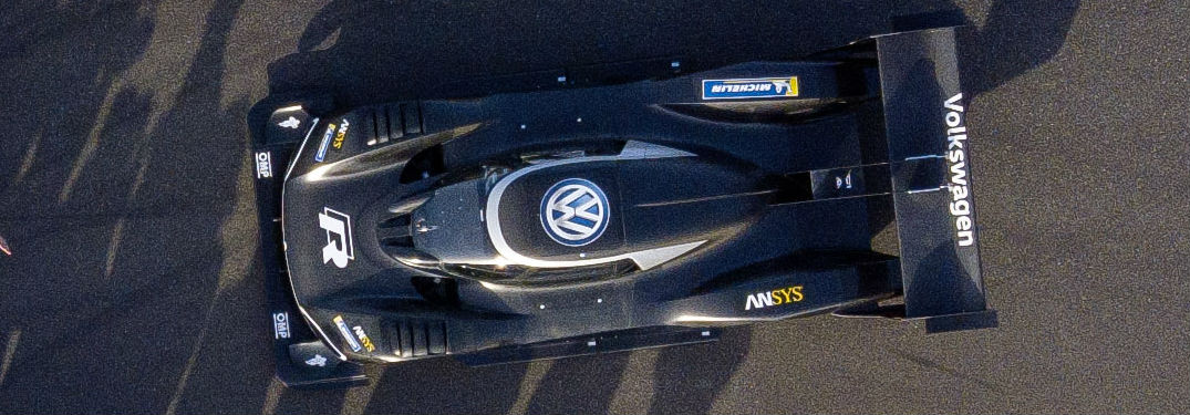 View of the Volkswagen I.D. R Pikes Peak from the top