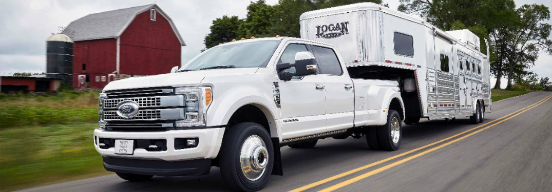 2017 Ford Super Duty fuel capacity and range