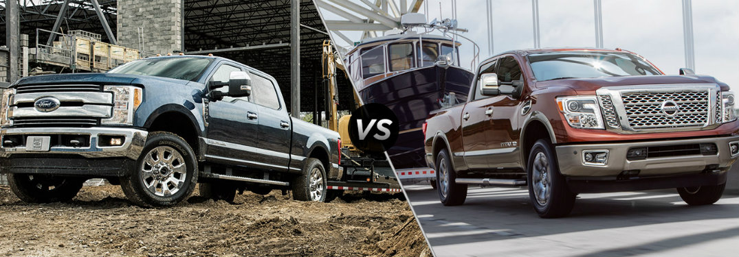 2017 Ford Super Duty vs 2017 Nissan Titan XD engine comparison