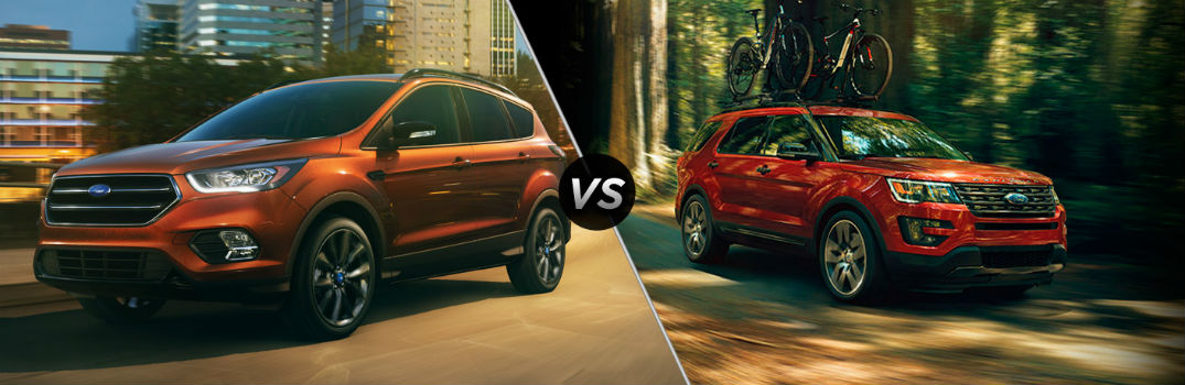 How Do the 2017 Ford Escape and 2017 Ford Explorer Compare?