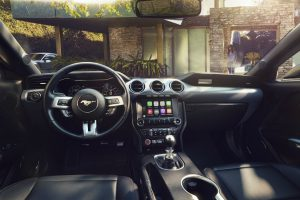 2018 Ford Mustang front interior driver dash and infortainment system_o