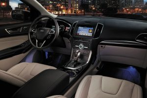 2017 Ford Edge front interior driver dash and display audio_o