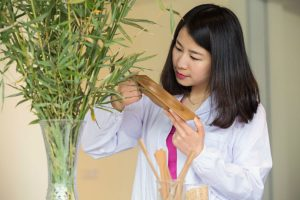 Janet Yin of Ford experimenting with Bamboo_o