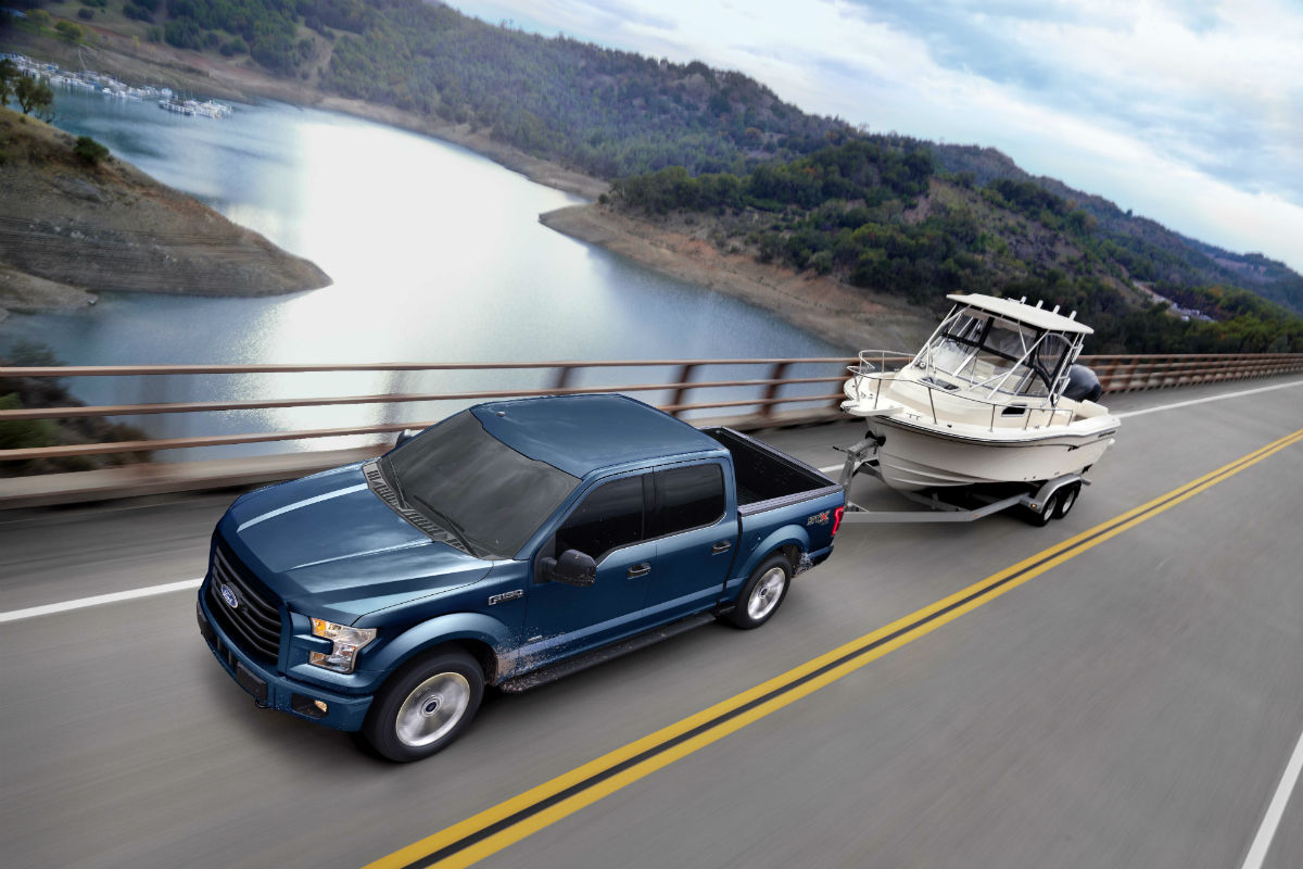 2017 Ford F 150 Towing And Hauling Capabilities Features 2004 Xlt Supercab Top Down Exterior While A Boat O