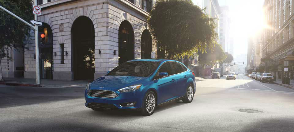 2017 Ford Focus Blue Candy front side exterior_o