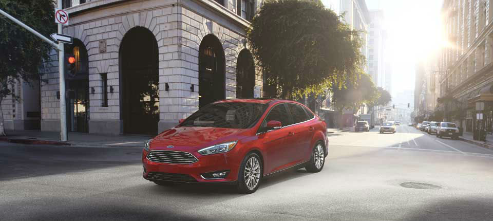 2017 Ford Focus Ruby Red front side exterior_o