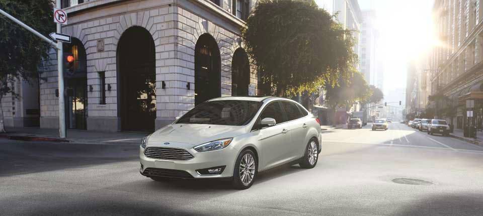 2017 Ford Focus White Gold front side exterior_o
