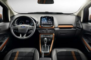 2018 Ford EcoSport front interior driver dash and infotainment system_o