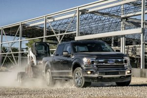 2018 Ford F-150 exterior while towing_o