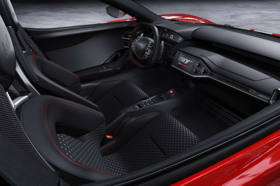 2018 Ford GT 67 Heritage Edtion front interior driver dash_o