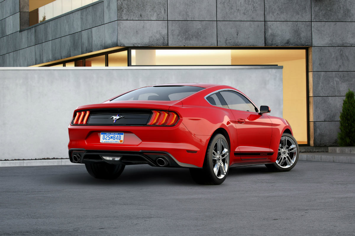 2018 Ford Mustang Pony Package rear exterior_o