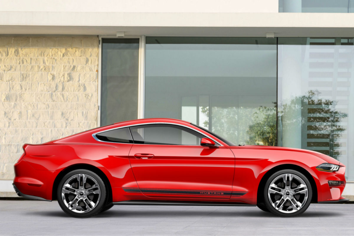 2018 Ford Mustang Pony Package side exterior_o