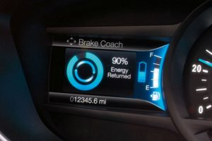 2017 Ford Fusion Hybrid front interior driver display_o