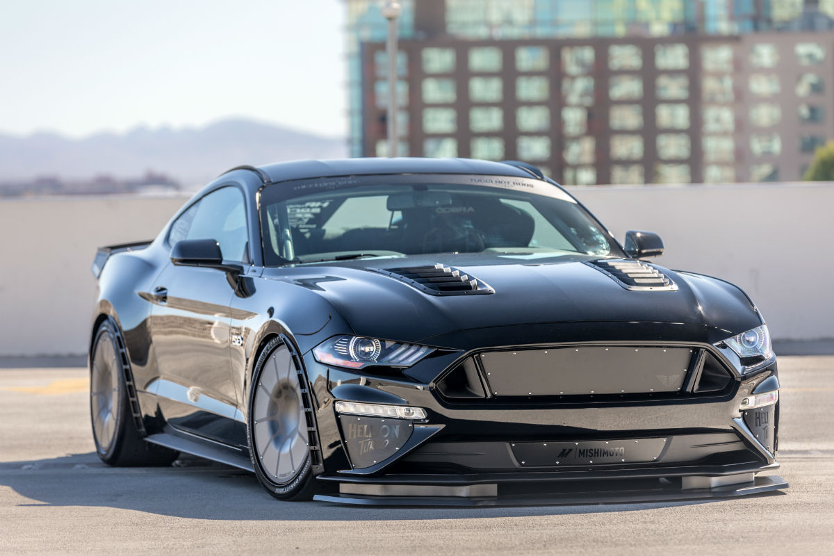Custom 2018 ford mustang fastback with gloss black exterior and