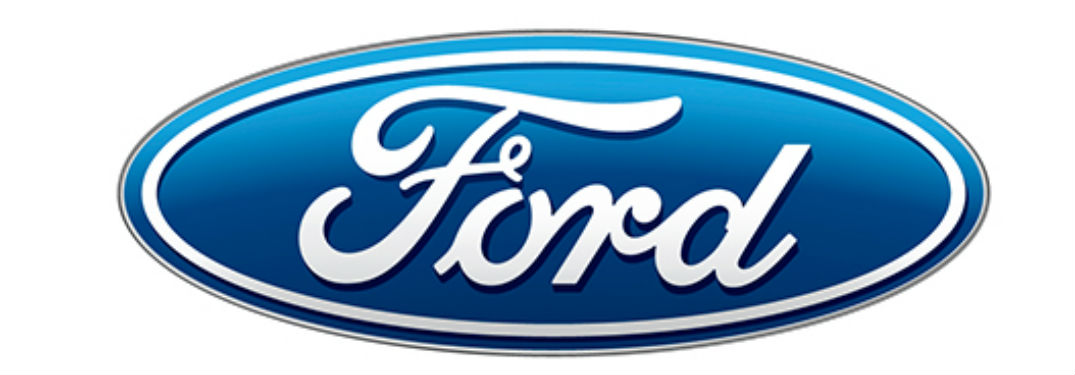 Blue Ford logo on white background