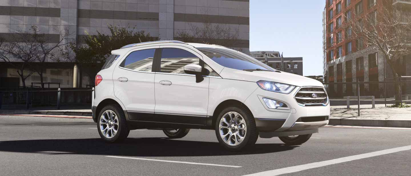 Ford Ecosport Diamond White Exterior Color