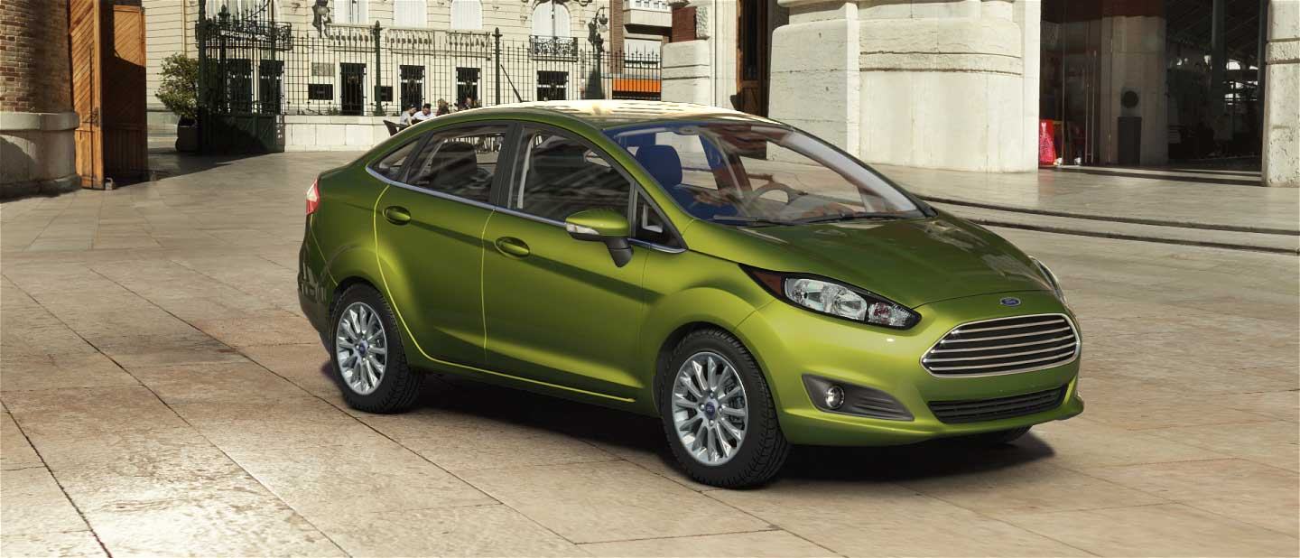 2018 Ford Fiesta Outrageous Green Exterior Color