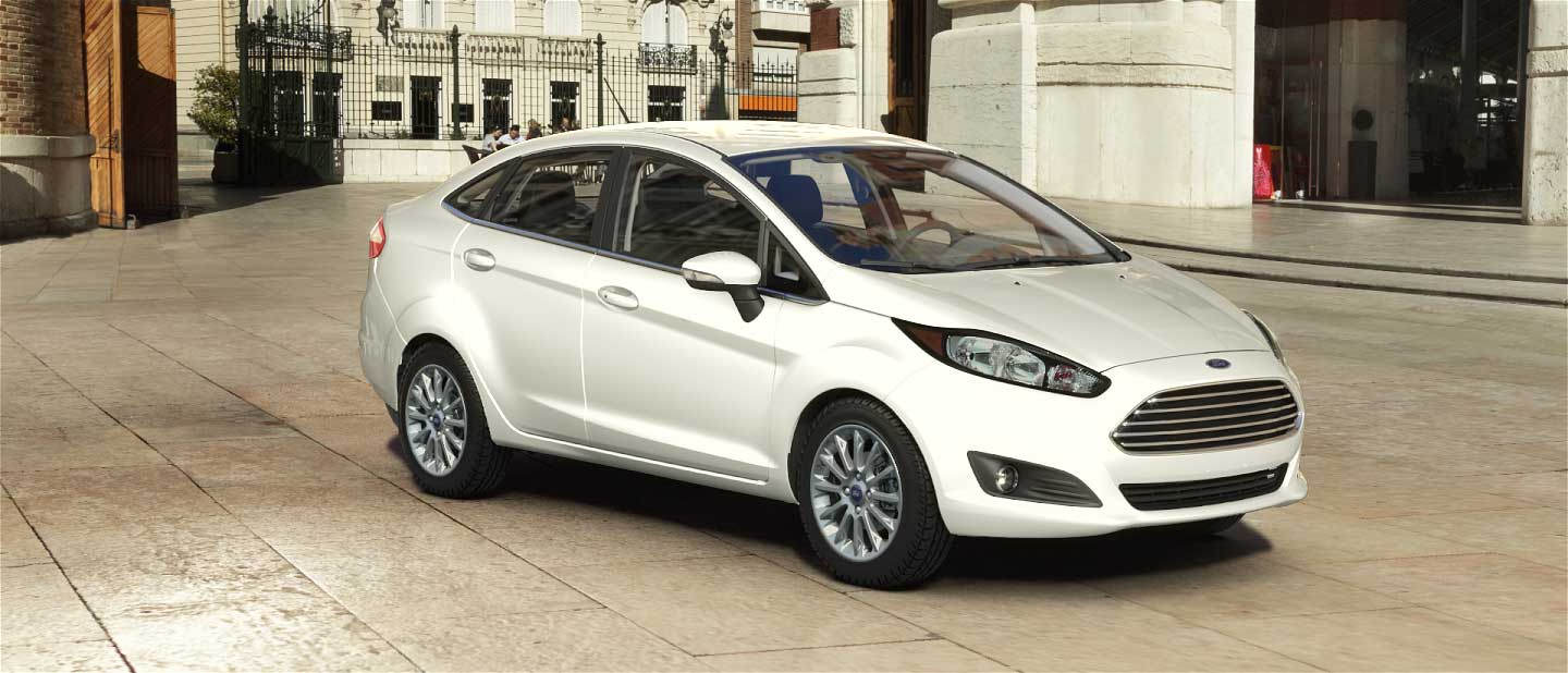 2018 Ford Fiesta White Platinum Exterior Color