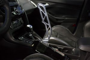 Ford Performance Drift Stick in its up position