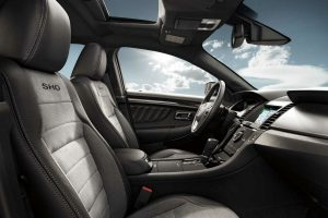 front interior of a 2018 Ford Taurus SHO