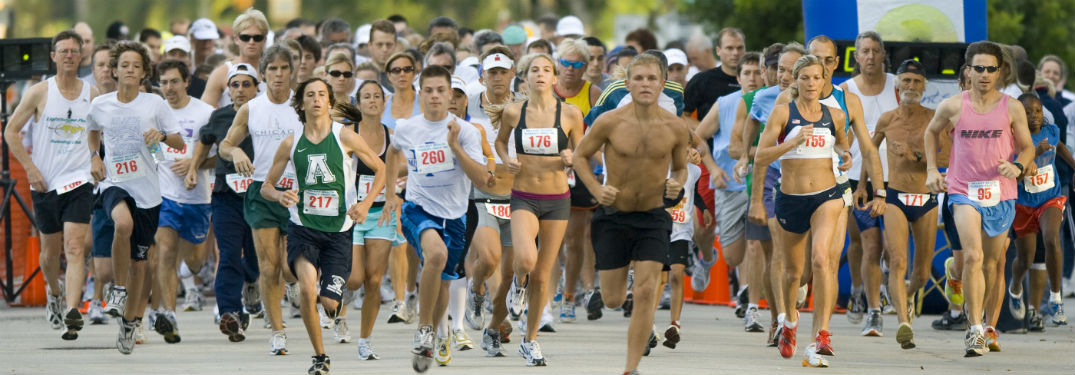 runners leaving the finish line at a 5K
