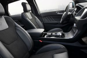 side view of the front interior of a 2019 Ford Edge ST