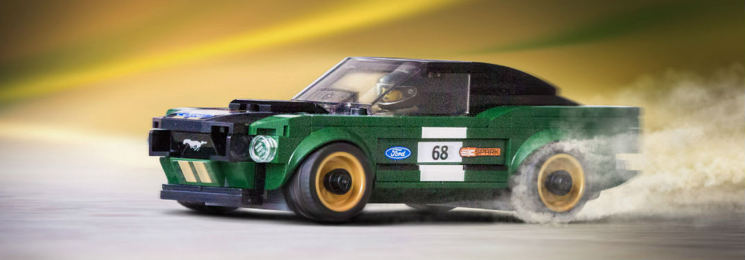 side view of the LEGO Speed Champions 1968 Ford Mustang Fastback Race Car