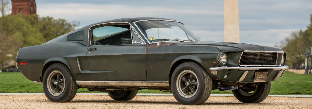 side view of the 1968 Ford Mustang from the movie Bullitt
