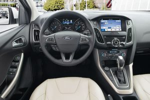 driver dash and infotainment system of a 2019 Ford Focus