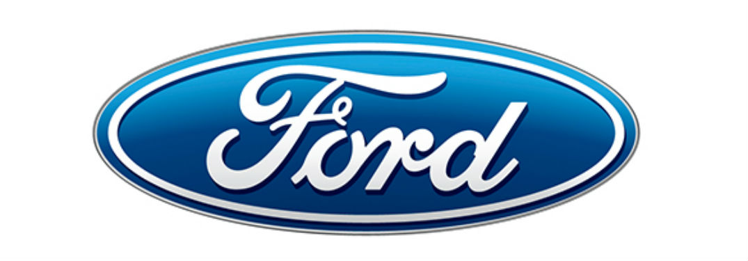 classic blue and white Ford logo