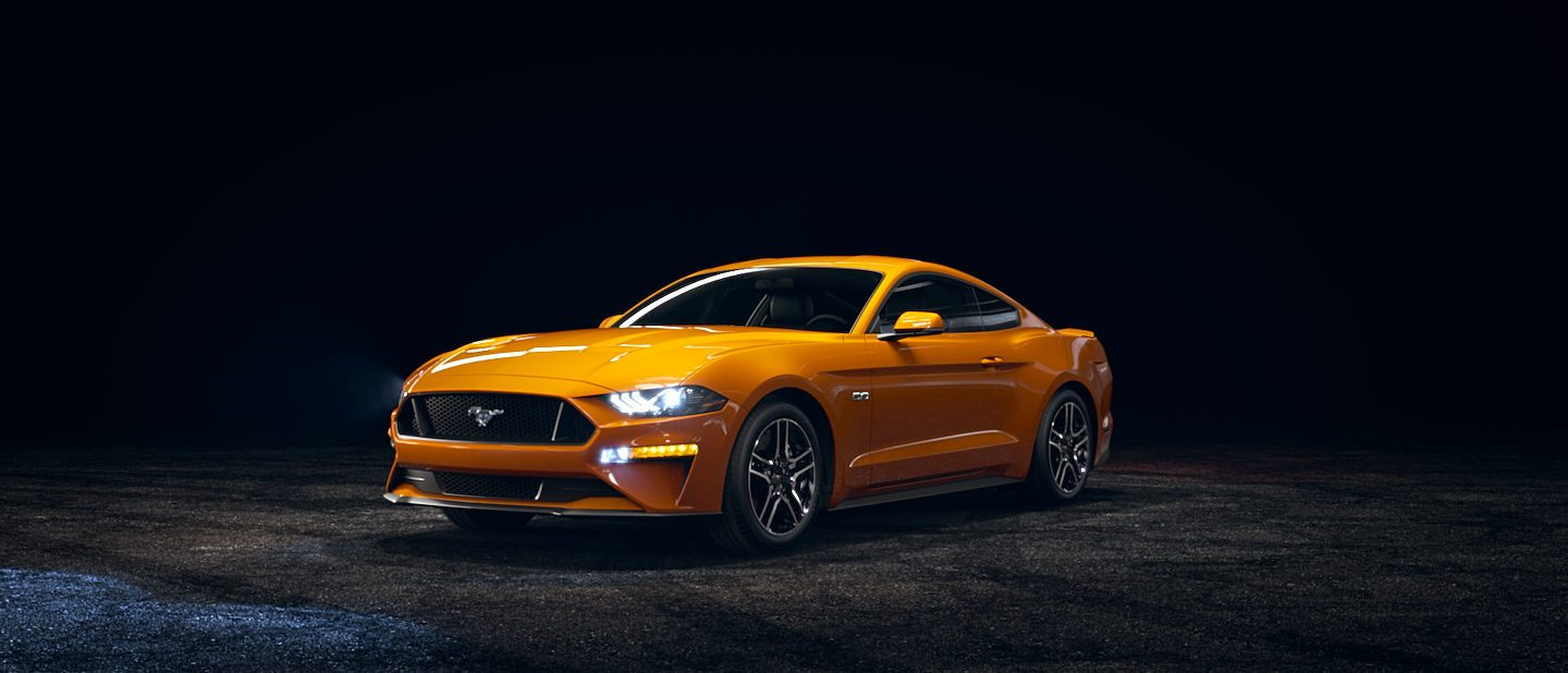 2019 Ford Mustang Orange Fury Exterior Color