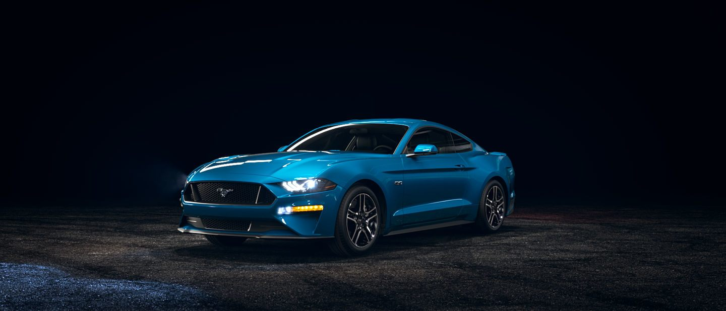 2019 Ford Mustang Velocity Blue Exterior Color