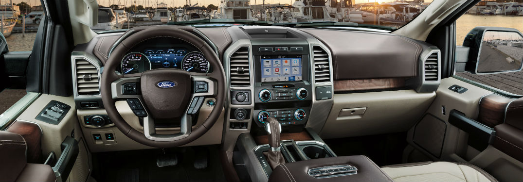 driver dash and infotainment system in a 2019 Ford F-150 Limited