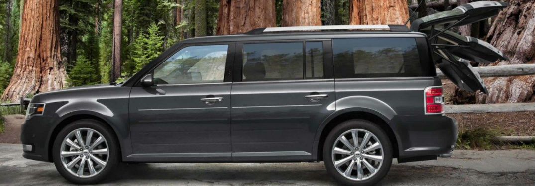 side view of a gray 2019 Ford Flex