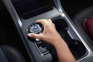 rotary gear shift dial with Sport Mode in a 2019 Ford Fusion V6 Sport