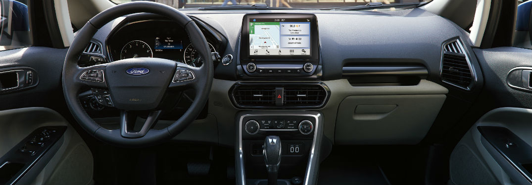 driver dash and infotainment system in a 2019 Ford EcoSport