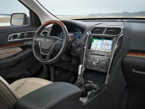 driver dash and infotainment system in a 2019 Ford Explorer