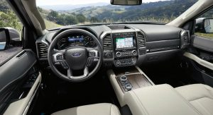 front interior of a 2019 Ford Expedition