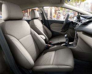 side view of the front passenger room in a 2019 Ford Fiesta