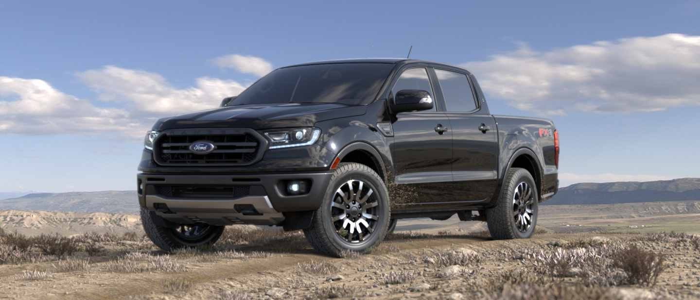 2019 Ford Ranger Absolute Black Exterior Color