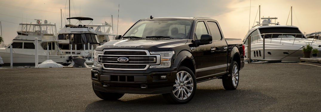 front view of a black 2019 Ford F-150