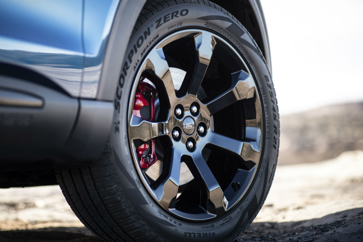wheel of a 2020 Ford Explorer