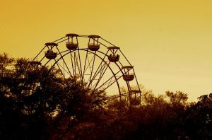 Ferris Wheel against a sunset