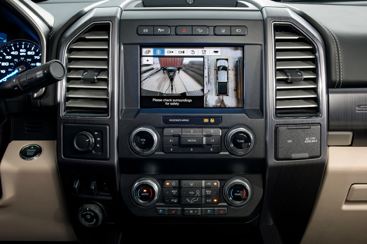 backup camera in a 2020 Ford Super Duty