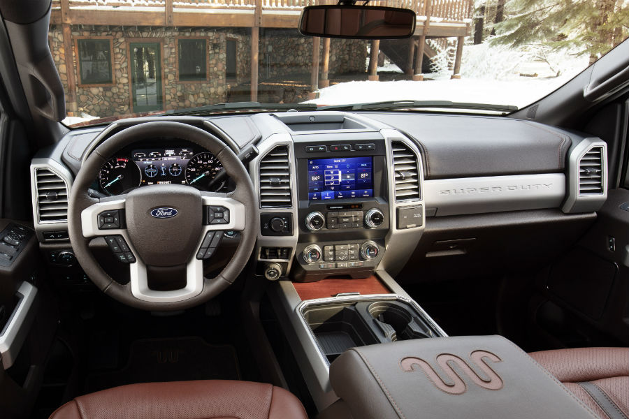 ford super duty  interior  exterior style features