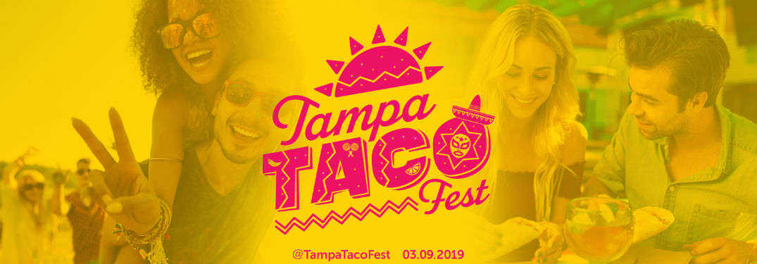 Tampa Taco Fest logo against a yellow background