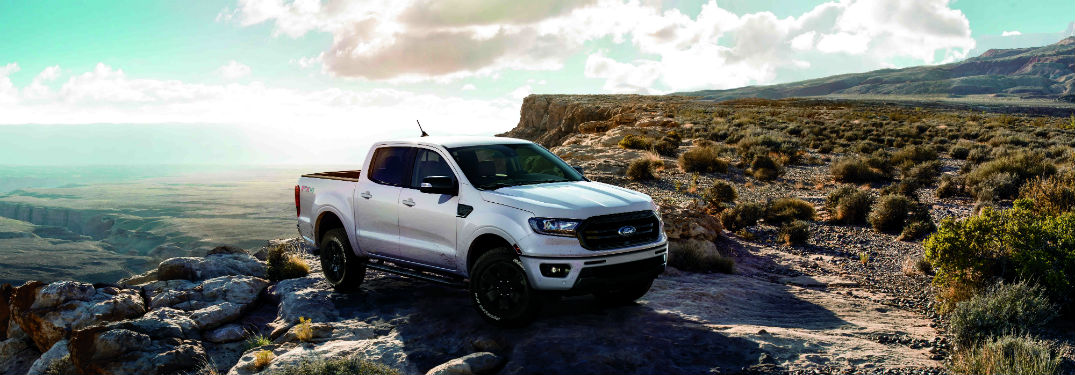 side view of a 2019 Ford Ranger featuring the Black Appearance Package